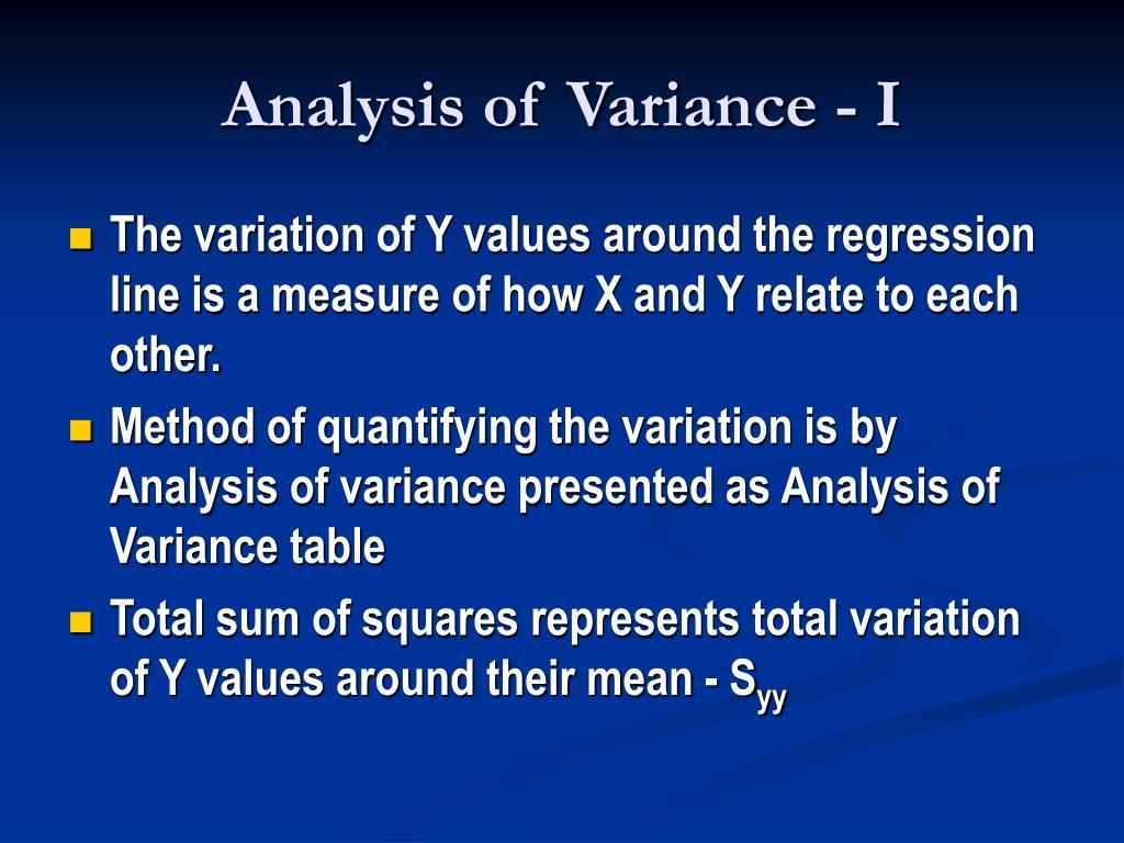 Analysis of Variance - I