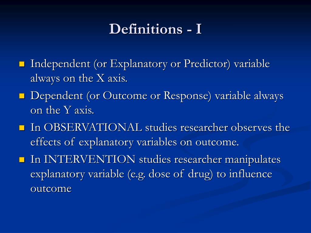 Definitions - I