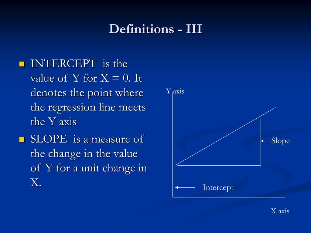 Definitions - III