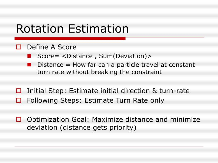 Rotation Estimation
