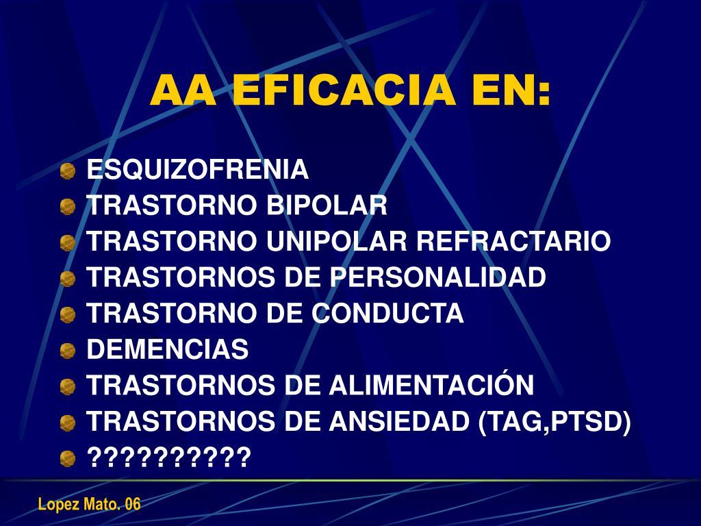 AA EFICACIA EN: