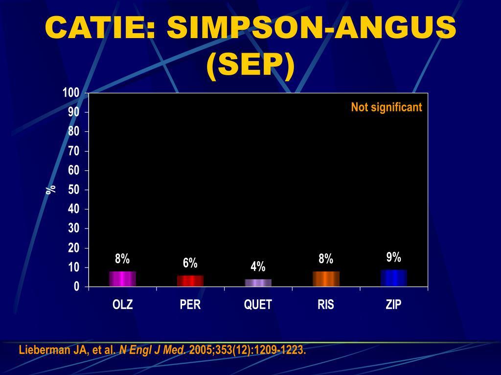 CATIE: SIMPSON-ANGUS (SEP)
