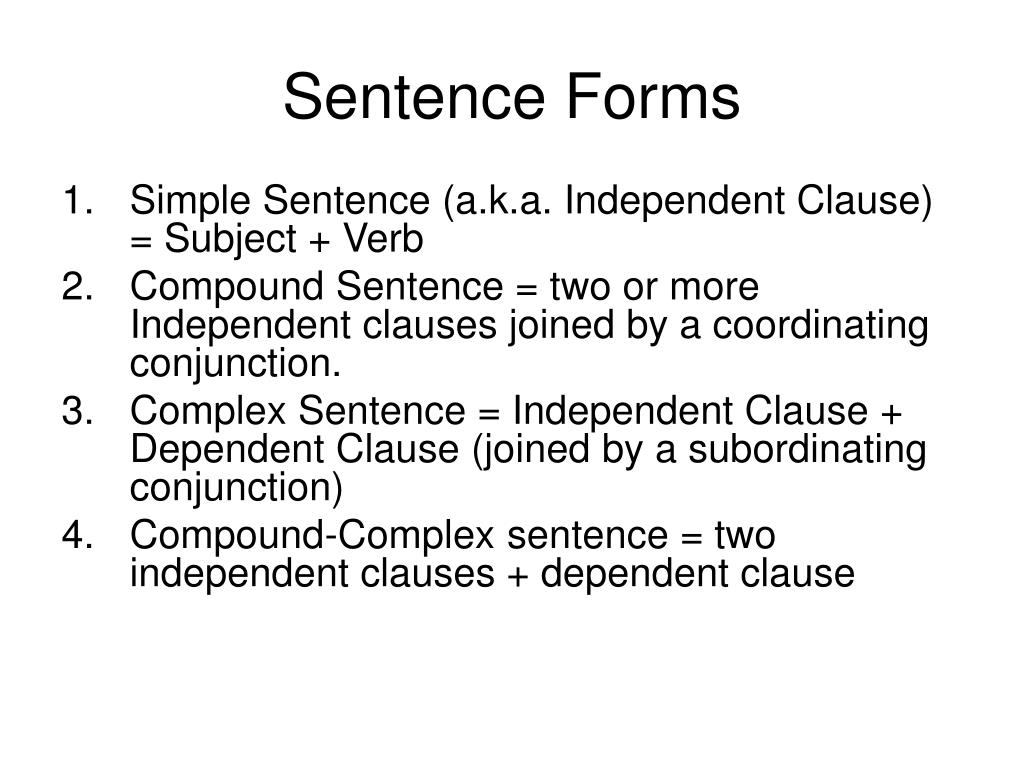 Sentence Forms