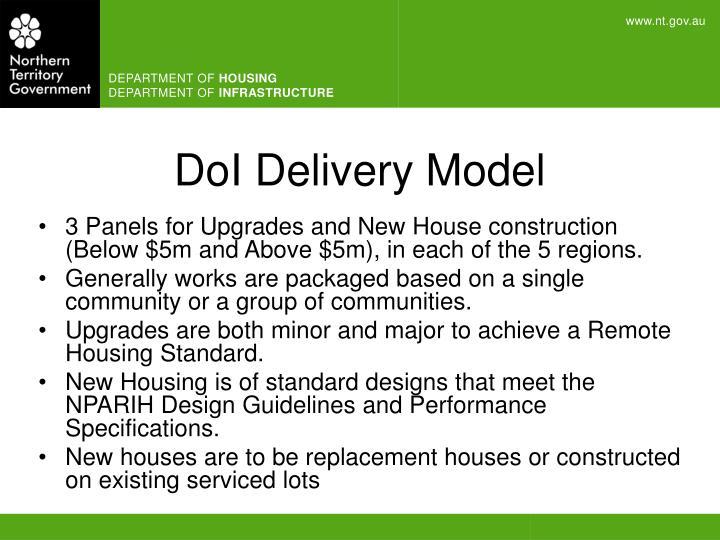 DoI Delivery Model