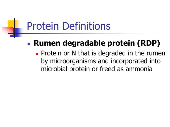 Protein Definitions