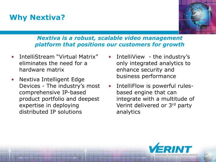 "IntelliStream ""Virtual Matrix"" eliminates the need for a hardware matrix"