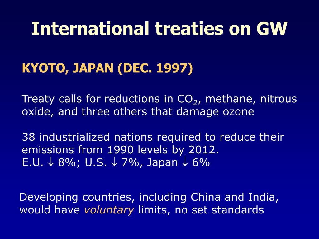 International treaties on GW