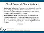 cloud essential characteristics
