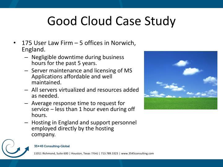 Good Cloud Case Study