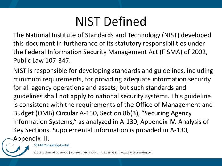 Nist defined
