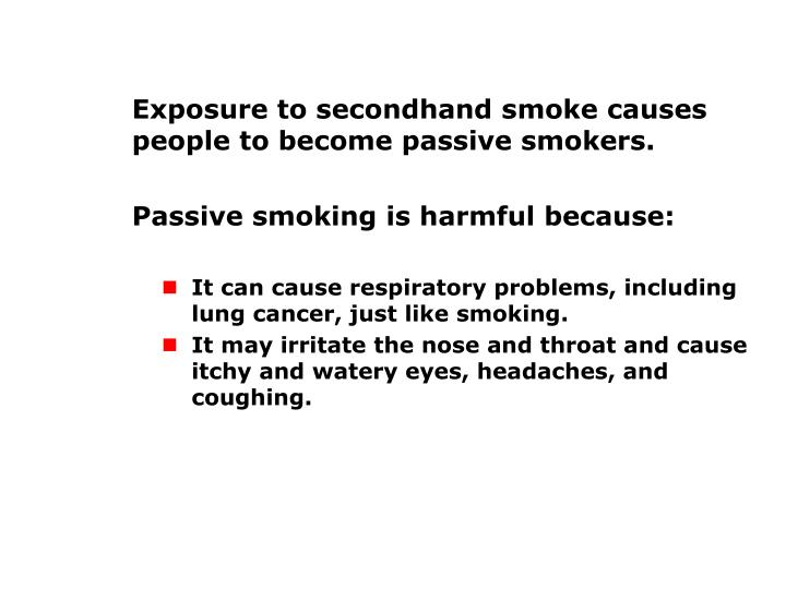 How Tobacco Affects Nonsmokers (cont'd.)