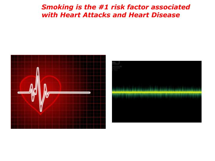 Smoking is the #1 risk factor associated with Heart Attacks and Heart Disease