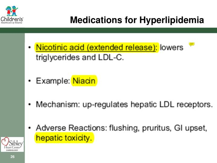 Medications for Hyperlipidemia