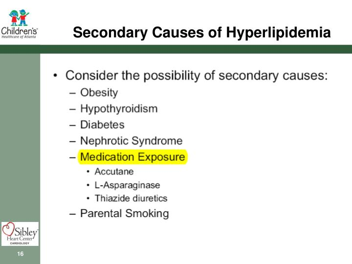 Secondary Causes of Hyperlipidemia