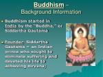 buddhism background information