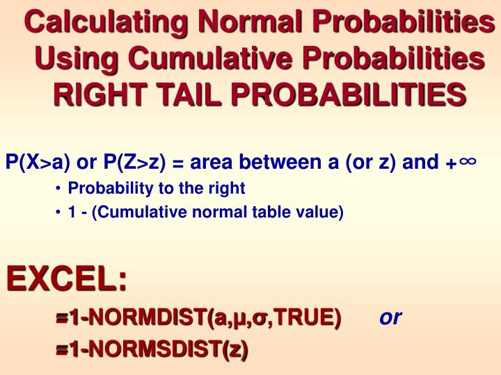Calculating Normal Probabilities Using Cumulative Probabilities