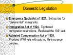 domestic legislation