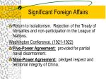 significant foreign affairs