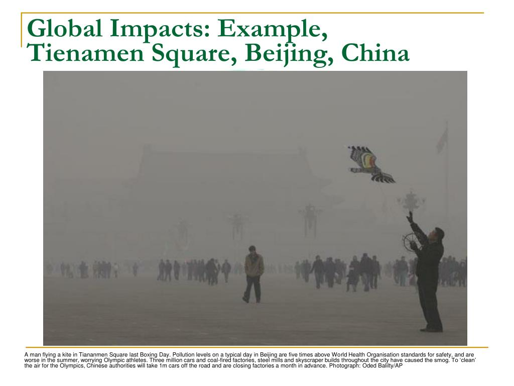 Global Impacts: Example,