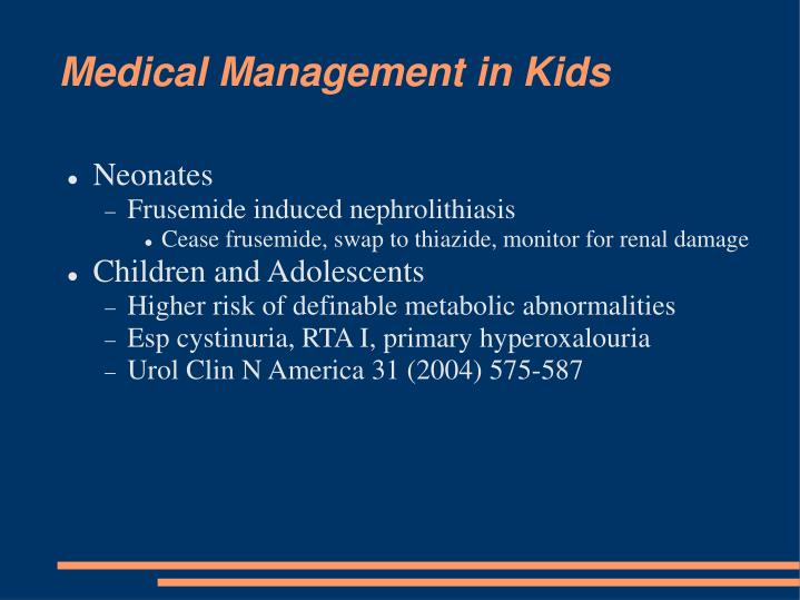 Medical Management in Kids