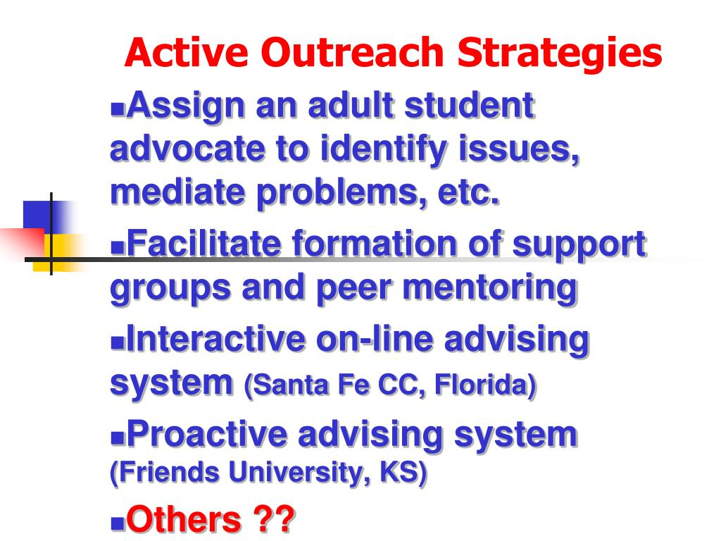 Active Outreach Strategies