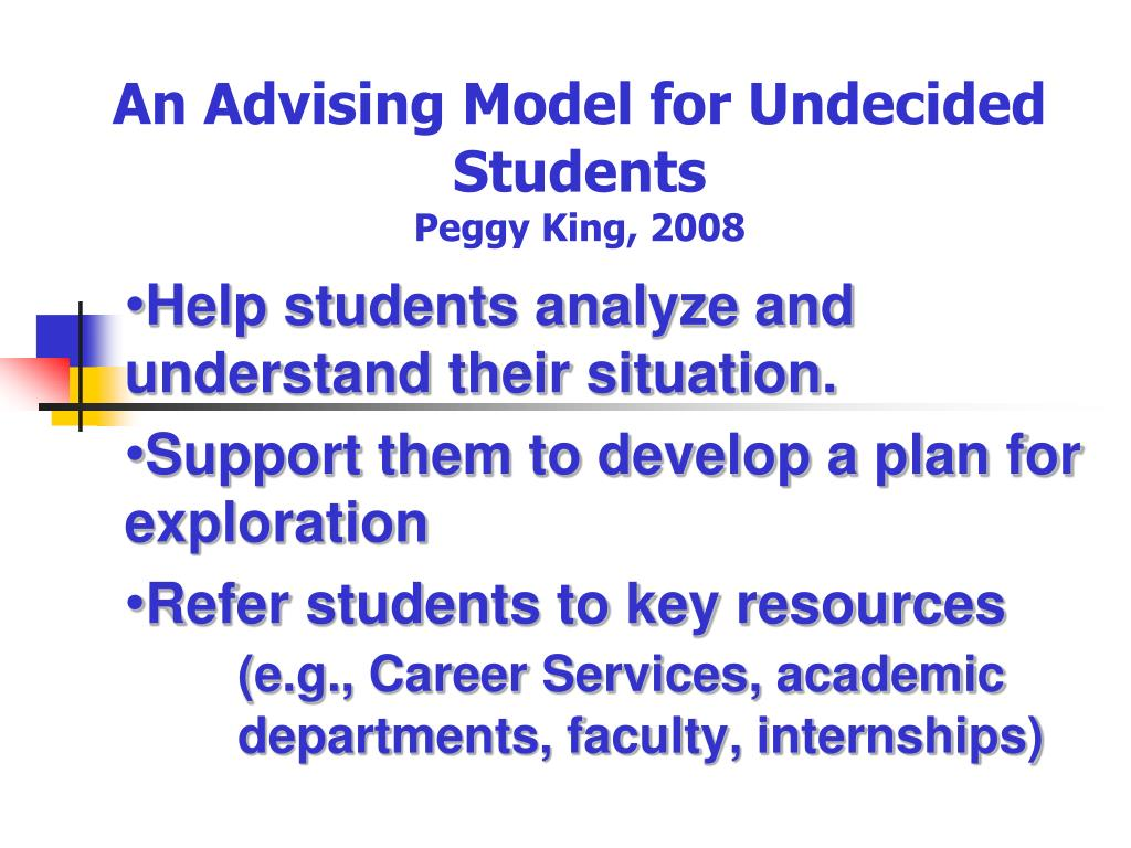 An Advising Model for Undecided Students