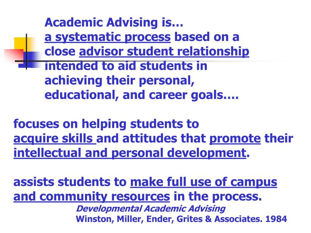 Academic Advising is…