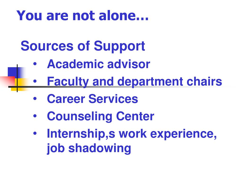 You are not alone…