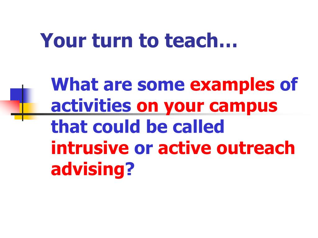 Your turn to teach…