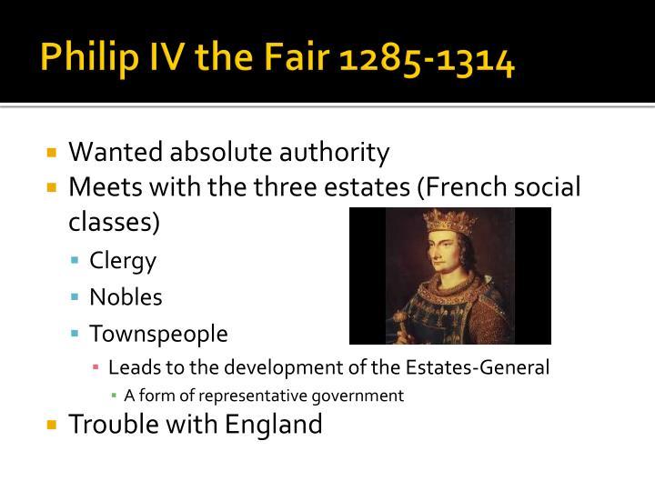 Philip IV the Fair 1285-1314