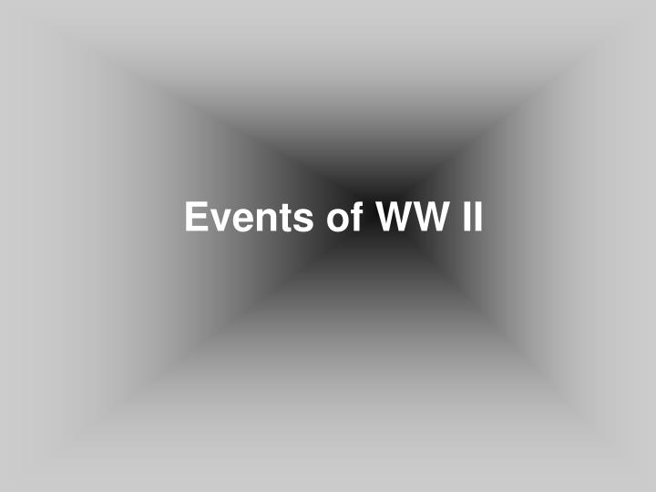 Events of WW II