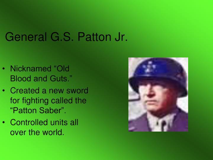 General G.S. Patton Jr.