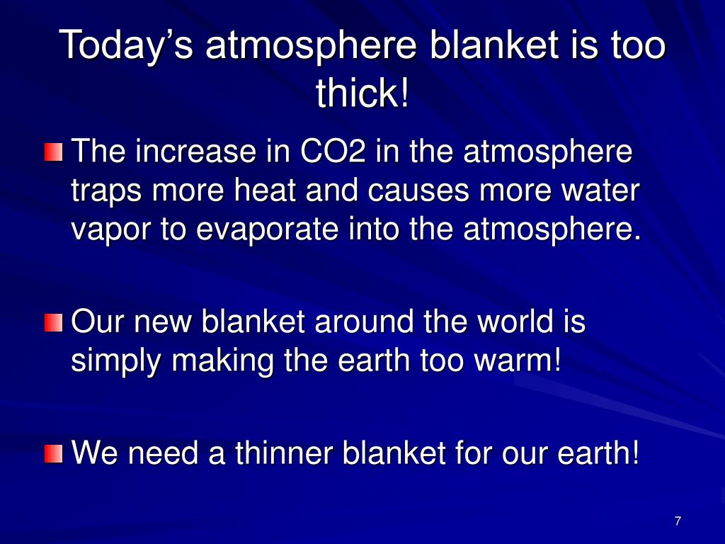 Today's atmosphere blanket is too thick!
