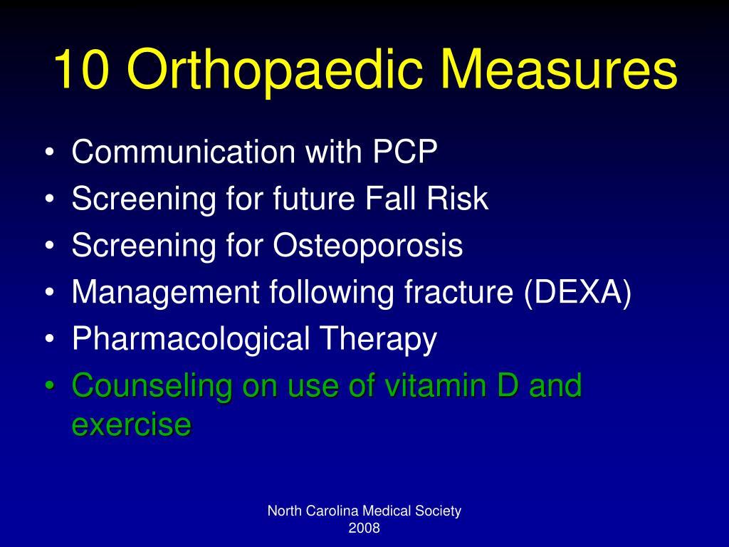 10 Orthopaedic Measures
