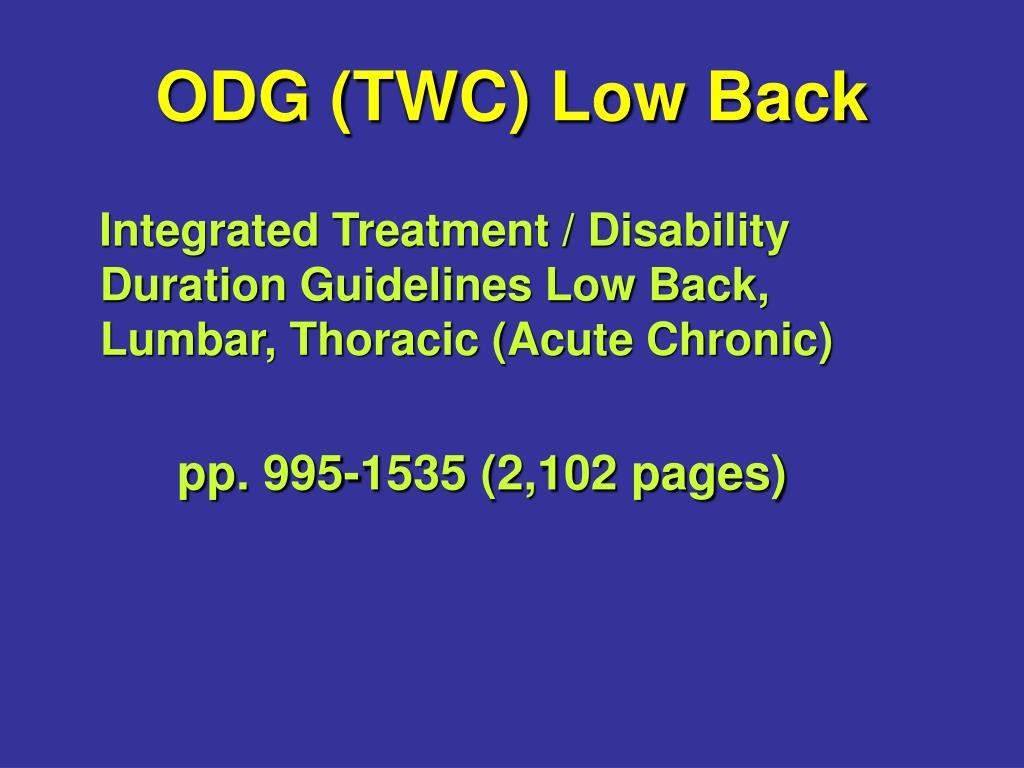 ODG (TWC) Low Back