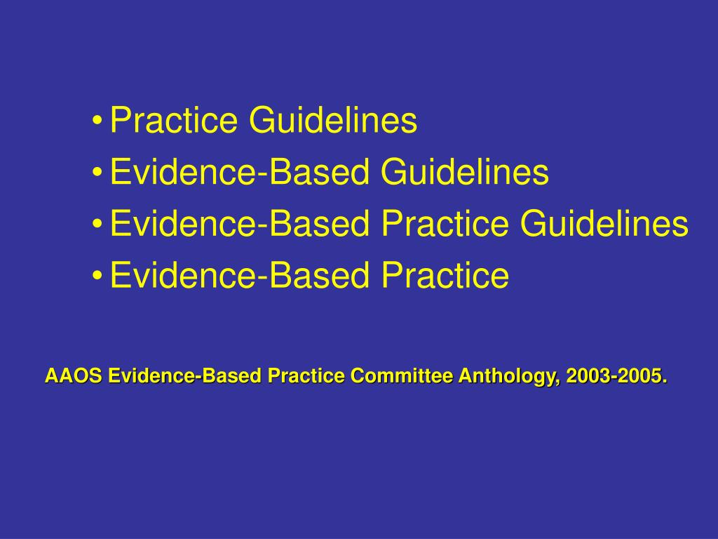 Practice Guidelines
