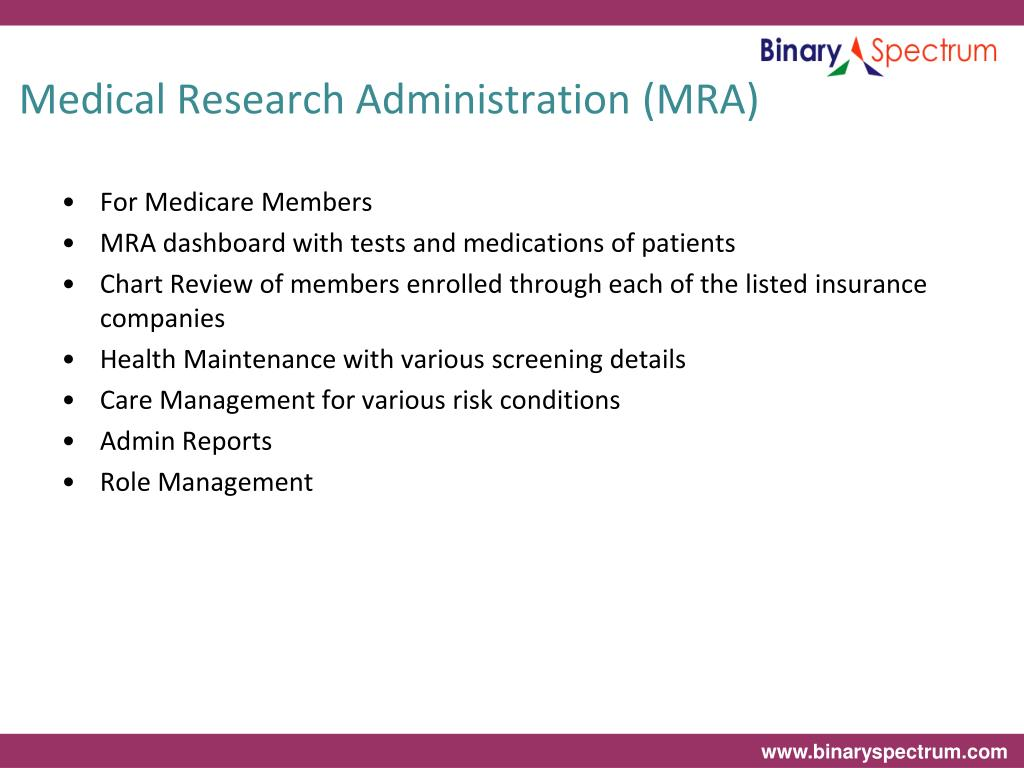 Medical Research Administration (MRA)