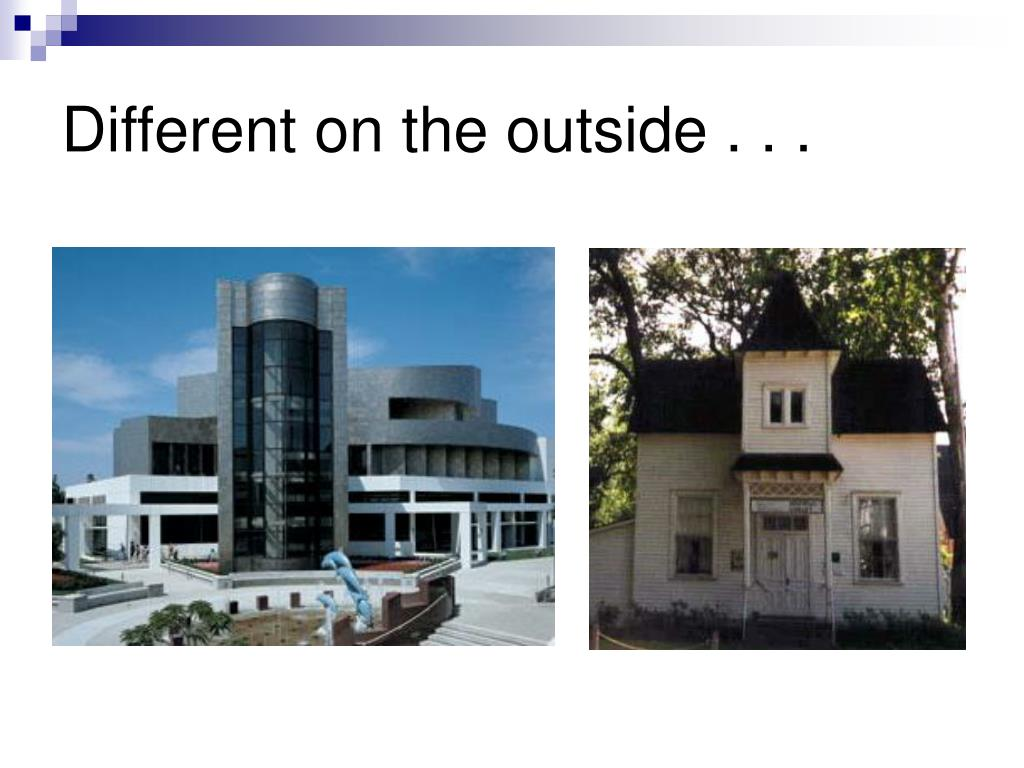 Different on the outside . . .