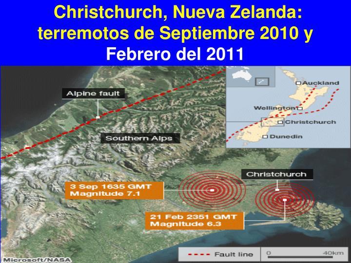 Christchurch, Nueva Zelanda: terremotos de Septiembre 2010 y