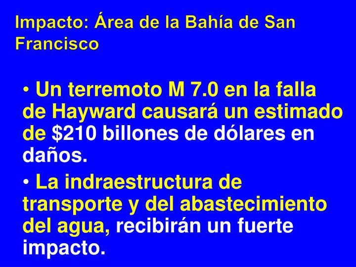 Impacto: Área de la Bahía de San Francisco