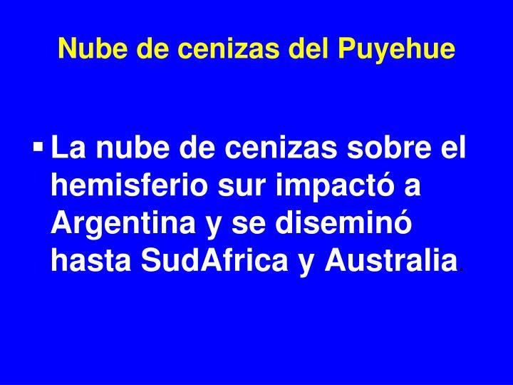Nube de cenizas del Puyehue