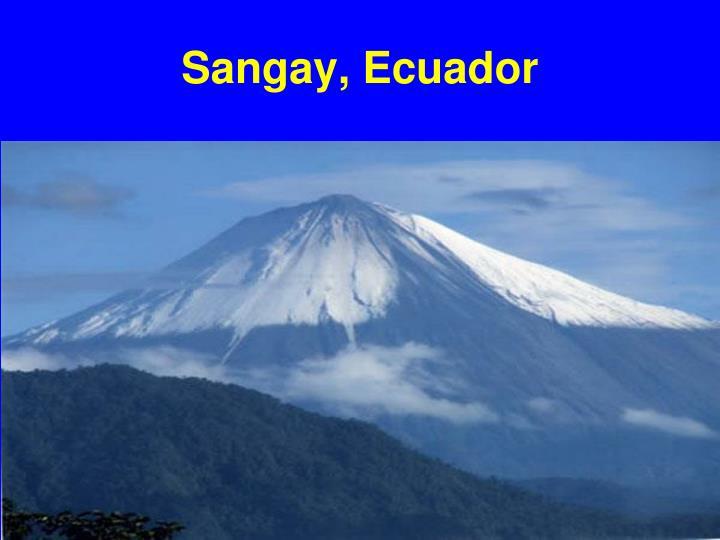 Sangay, Ecuador