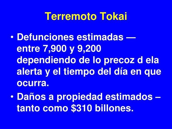 Terremoto Tokai