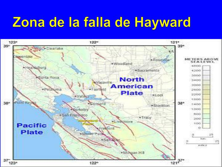 Zona de la falla de Hayward