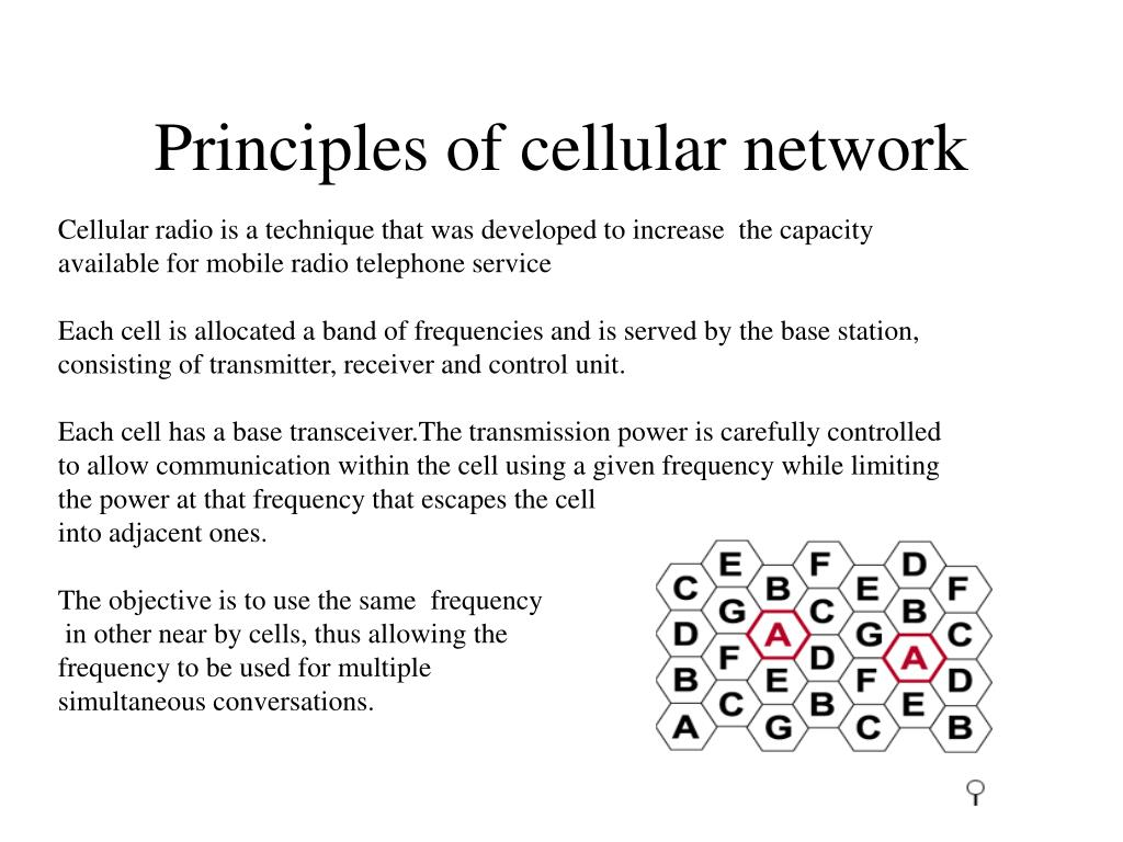 Principles of cellular network