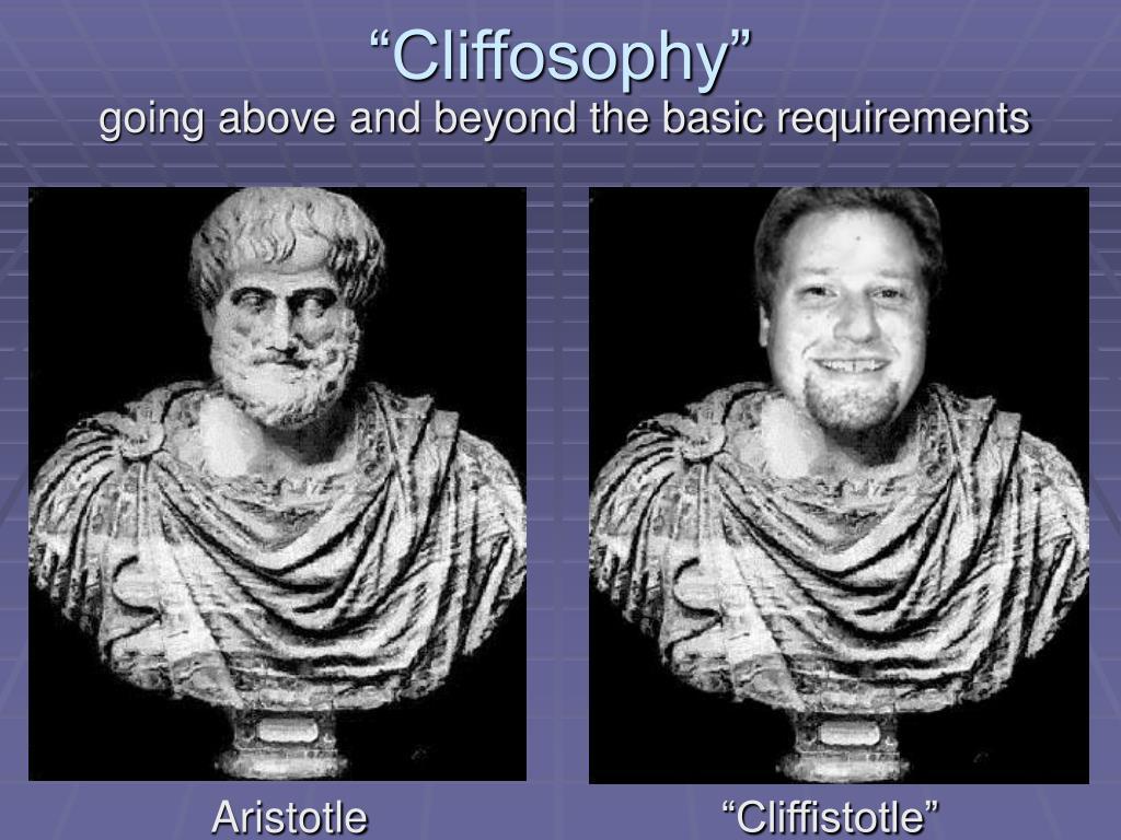 """Cliffosophy"""