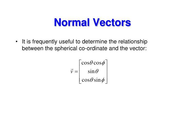 Normal Vectors