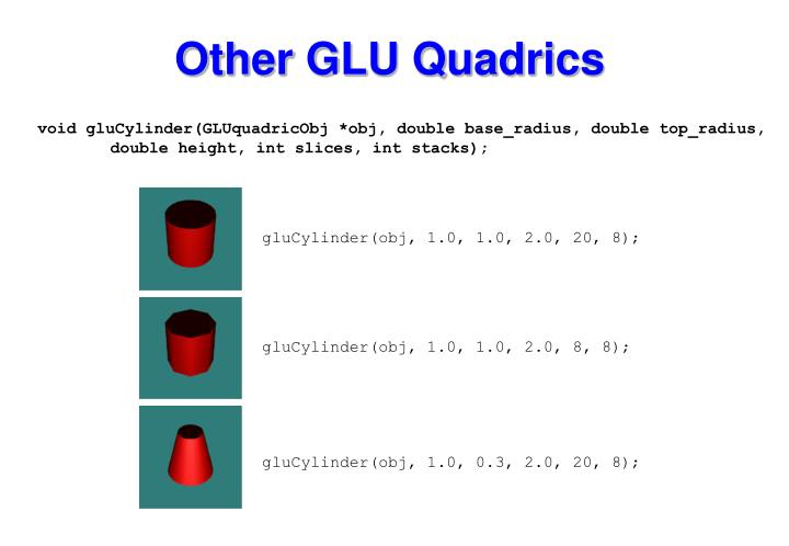 Other GLU Quadrics