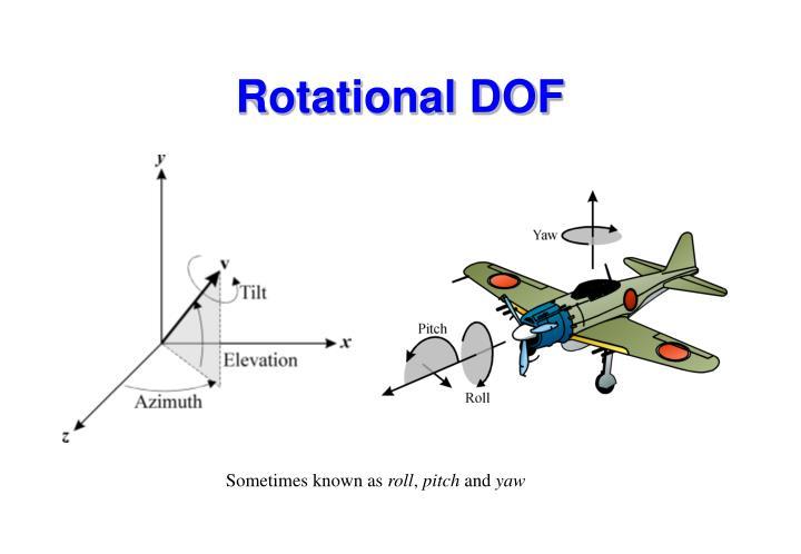 Rotational DOF