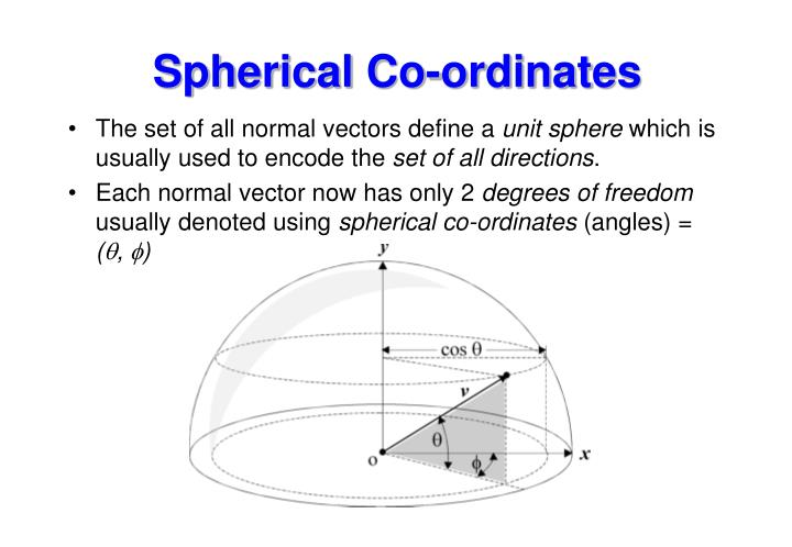 Spherical Co-ordinates